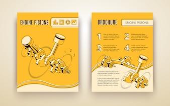 Modern car industry technologies brochure or poster