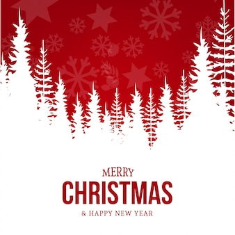 Modern card with christmas landscape greeting card