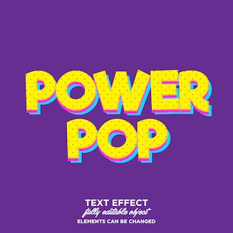 Modern cartoon pop art text effect for some product or title