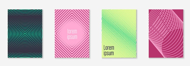 Modern catalog. halftone certificate, presentation, journal, web app layout. yellow and pink. modern catalog with minimalist geometric line and trendy shapes.