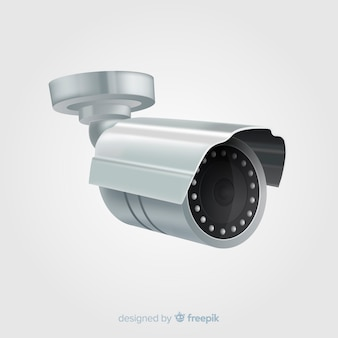 Modern cctv camera with realistic design