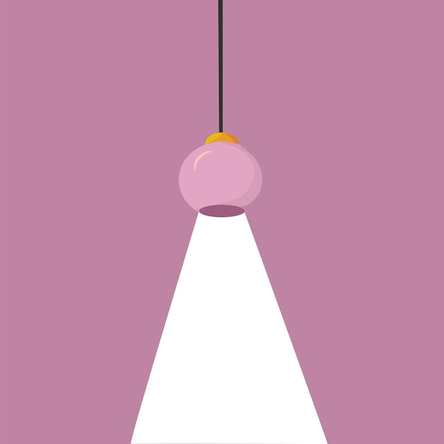 A modern ceiling lamp in a cartoon style an element of a modern interior vector illustration