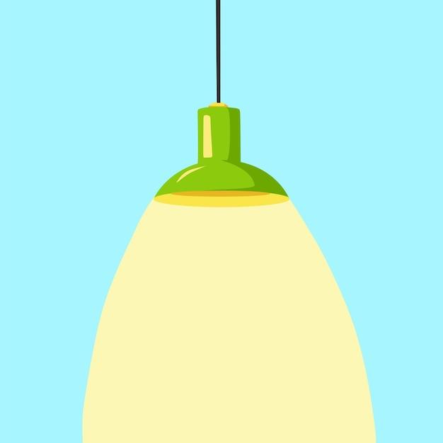 A modern ceiling lamp in a cartoon style an element of a modern interior vector