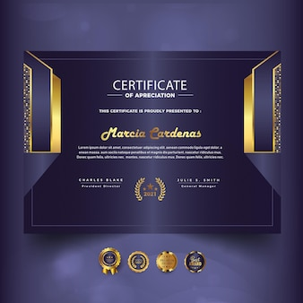 Modern certificate of achievement new template