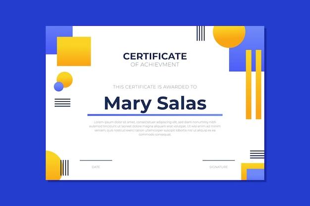 Modern certificate of achievement