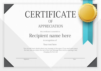 Certificate border vectors photos and psd files free download modern certificate border template yelopaper Images