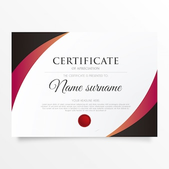 Modern certificate of appreciation