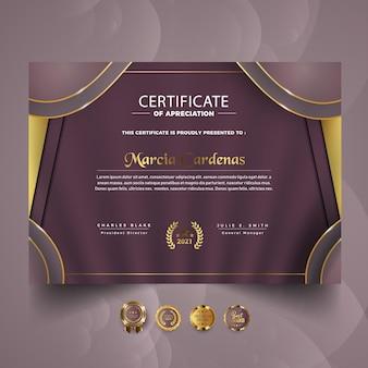Modern certificate template design
