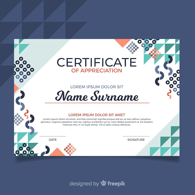 Free Modern Certificate Template With Abstract Design Svg Dxf Eps Png Cutting Tool Vectors Photos And Psd Files Free Download