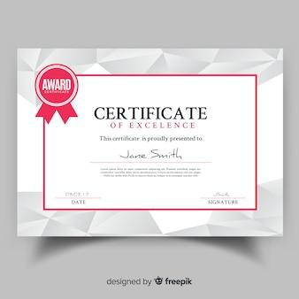 Современный шаблон сертификата с плоским дизайном
