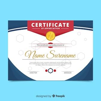 Modern certificate template