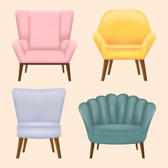 スカンジナビアスタイルのモダンな椅子