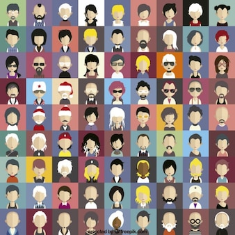 Modern characters icons