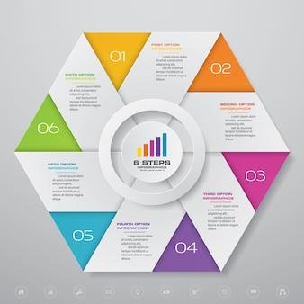 Modern chart infographic element