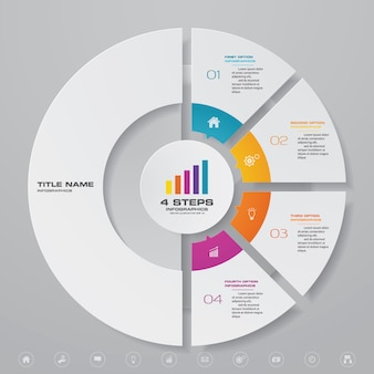 Modern chart infographic element