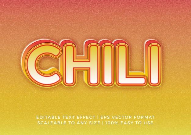 Modern chili grain title text effect