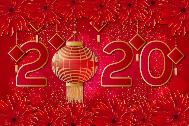 Modern chinese new year background