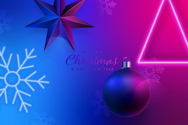 Современный рождественский баннер в ночном клубе
