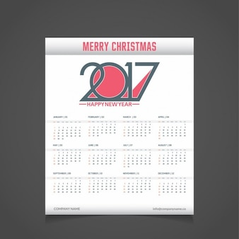 Modern christmas calendar 2017
