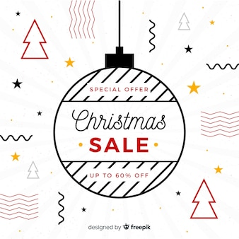 Modern christmas sale composition