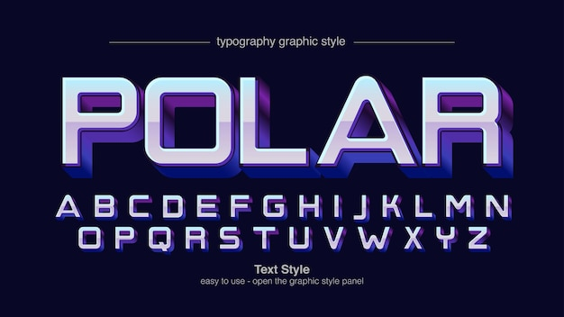 Modern chromatic purple 3d 스포츠 타이포그래피