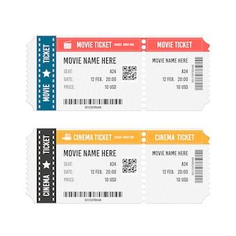 Modern cinema or movie tickets