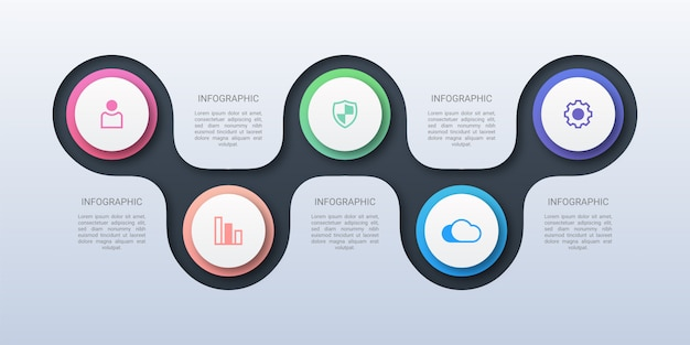 Modern circle business infographic