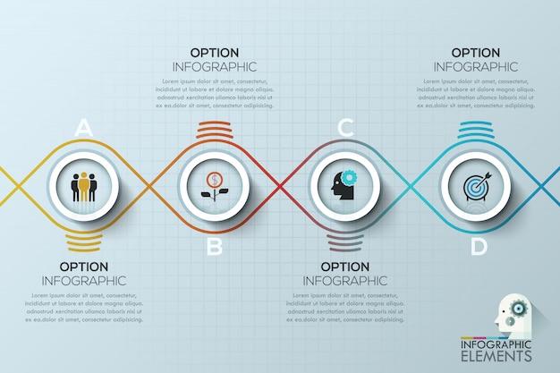 Modern circle business template