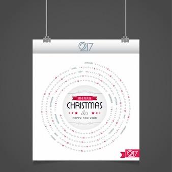 Modern circular christmas calendar