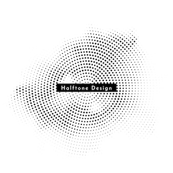 Современный круглый полутоновый дизайн фона вектор