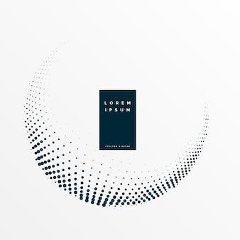 Modern circular halftone dots background