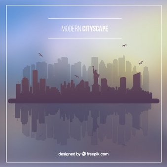 Modern city background