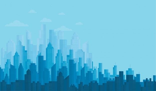 Modern city skyline backgrounds