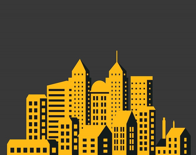 Modern city skyscrapers