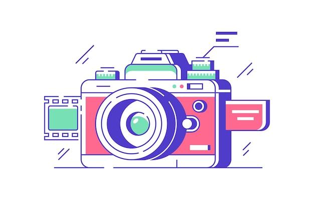 고품질 촬영을위한 현대 클래식 카메라 아이콘