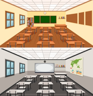 Modern classroom illustration