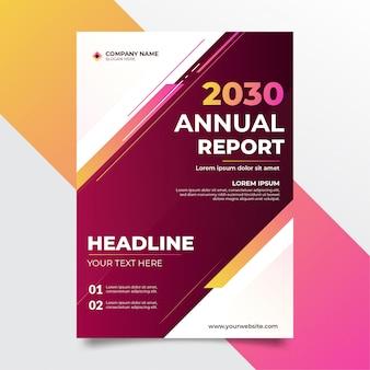 Современный чистый бизнес годовой отчет фиолетовый дизайн