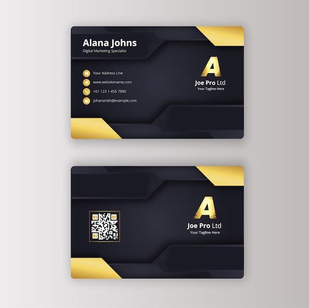 Современный чистый шаблон визитной карточки