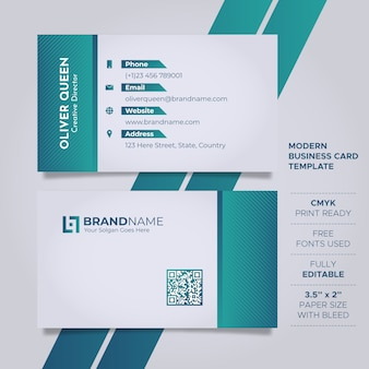 Modern clean business card template