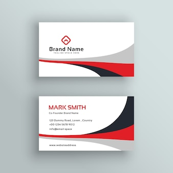 Modern clean business card vector design