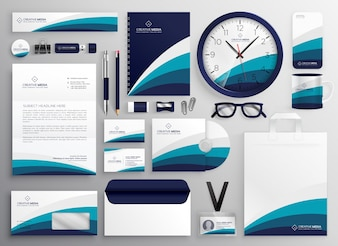 Modern clean business stationery set for your brand