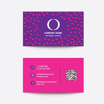 Modern clean concept flat business visiting card
