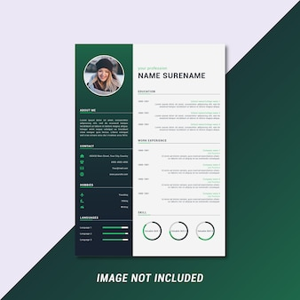 Modern and clean curriculum vitae template design
