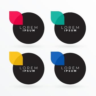 Modern clean dark circle banners set