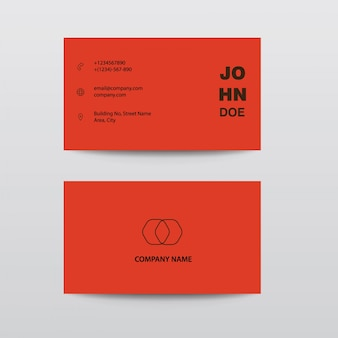 Modern clean flat design brown white orange color business visiting card