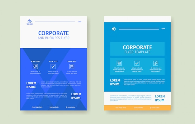 Modern and clean flyer poster template