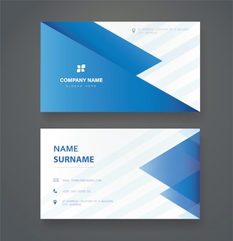 Modern clean triangle double sided business card