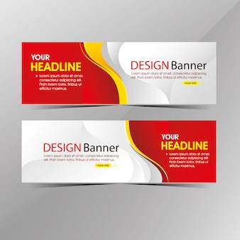 Modern clean white and red web template banner, promotion sale discount banners
