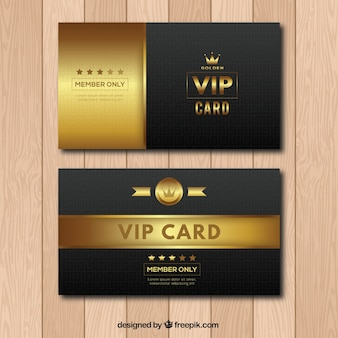 Modern cllection of vip cards with vintage style