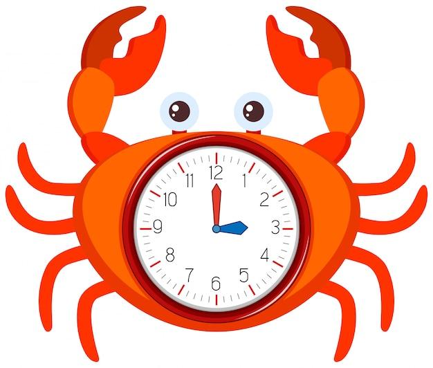 A modern clock crab template